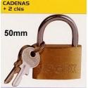 BL CADENAS 50mm+2 cles