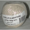 FICELLE ALIMENTAIRE POLY BLANCHE 250m