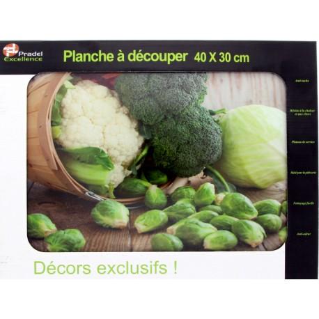 PLANCHE A DECOUPER VERRE 40X30 CM DECOR CHOUX