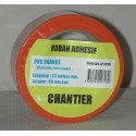 PVC ORANGE CHANTIER 50mm 33M