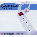 BL BLOC 3 PRISES+INTER 16A