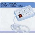 BL BLOC 7 PRISES+INTER 3X16AZ+4X6A