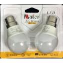 BL 2 AMPOULES LED SPHERIQUES 4W B22 330 LUMEN