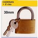 BL CADENAS 30mm+2 cles